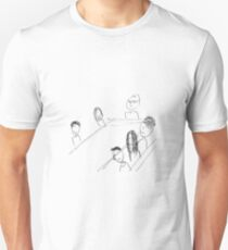 Breakfast With Friends Slim Fit T-Shirt