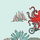Krake auf dem Fahrrad von Amélie  Legault