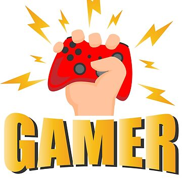 Gamer - Game Controller Control - Lighting Bolts - Gaming Drawing - Video Games Lover by BullQuacky