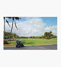 The Golf Car Photographic Print