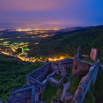 «Château la nuit» par Isenmann