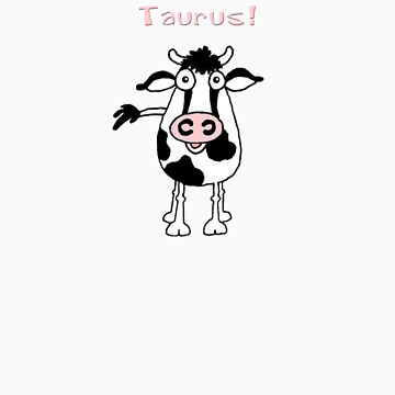 Cartoon bull representing Taurus by graphicdoodles
