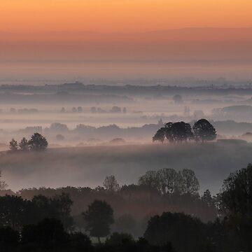 «Brume sur la plaine d'Alsace» par Isenmann