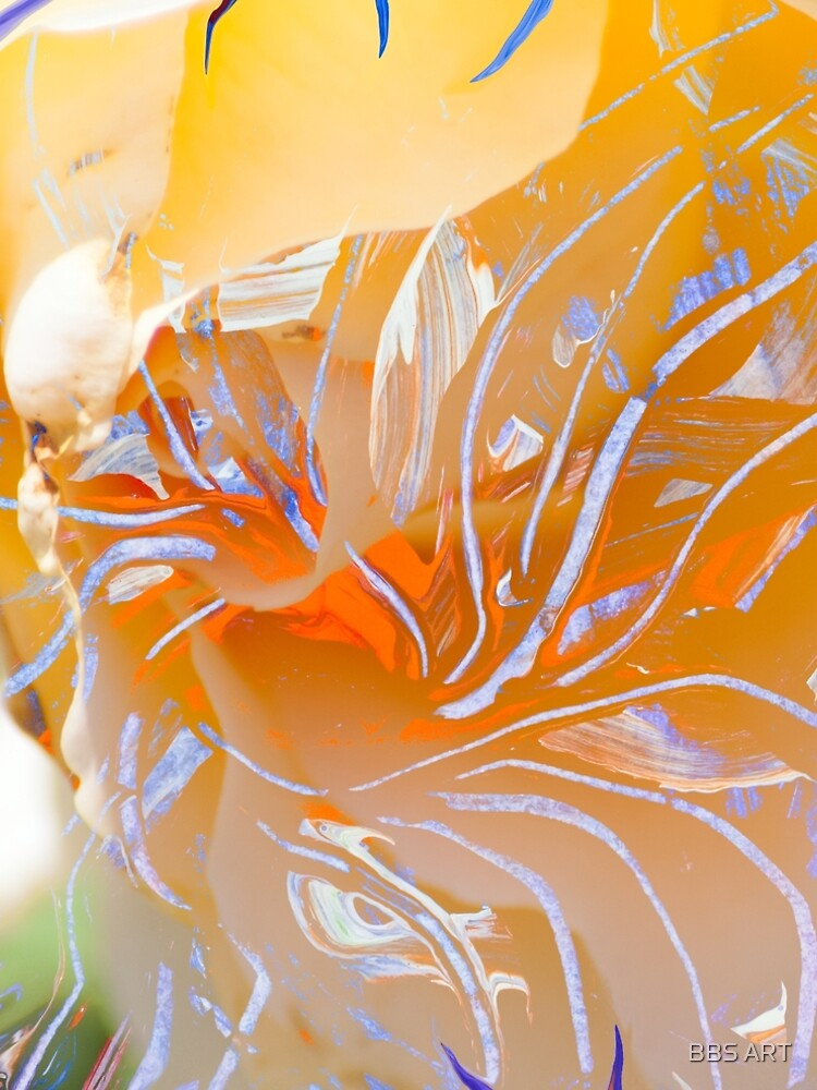 warm colors flower abstraction by brunobenedetti
