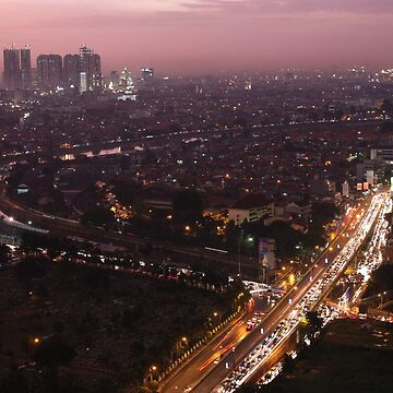 Night descends over central Jakarta by timoss