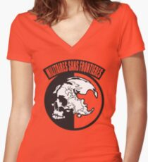 Metal Gear Solid - MSF (Militaires Sans Frontières) Women's Fitted V-Neck T-Shirt