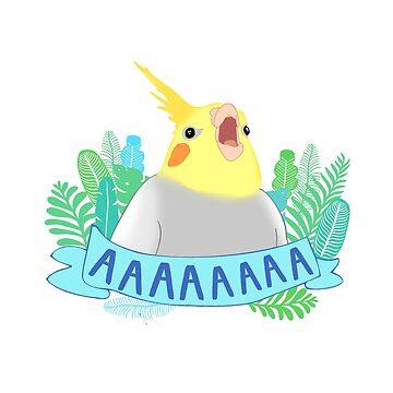 gritando cockatiel doodle de FandomizedRose