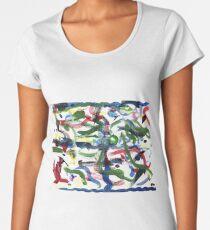 Luftschlangen in Grün 2-28-19 Frauen Premium T-Shirts