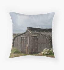 Viking Boat Sheds Throw Pillow