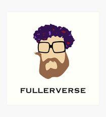Bryan Fuller Beard & Flower Crown Art Print