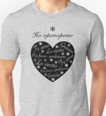 Ho´oponopono Corazón Negro Español Camiseta ajustada