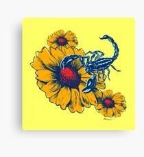 Scorpion Flowers Canvas Print