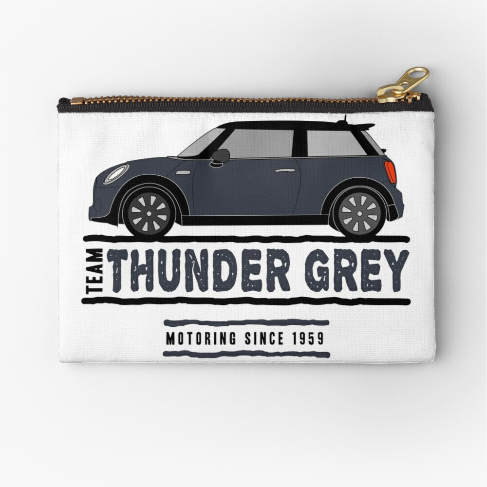 F56 Mini Team Thunder Grey Zipper Pouch