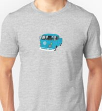 Blue Split Screen VW Kombi Pick up T-Shirt