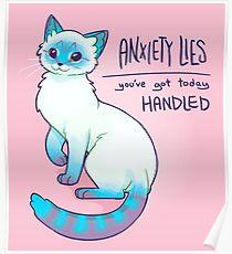 ANGST LIEGEN Magische Luchsspitze Siamesische Katze Poster