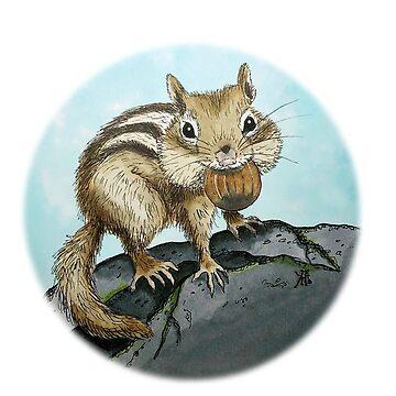 Chipmunk Cheeks by Wildharegrafix