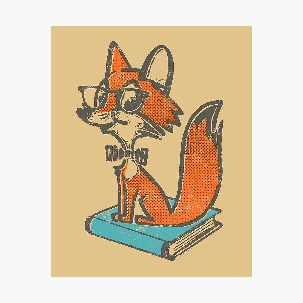 Fox Librarian Photographic Print