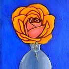 painted orange rose by Shellaqua