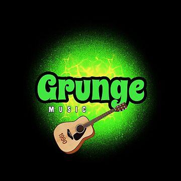 GRUNGE MUSIC 1990 by DRAWGENIUS