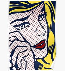 Crying Girl, Homage to Roy Lichtenstein Poster