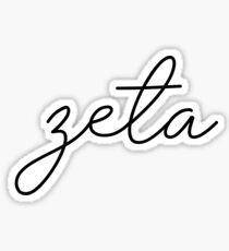 Zeta Script Letter Sticker