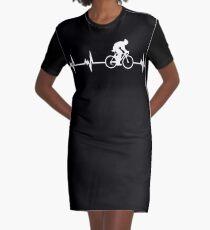 Meistverkaufte Radfahren Herzschlag T-Shirt Kleid