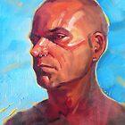Porträt eines Künstlers von Roz McQuillan