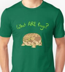 What ARE Frogs? (Desert Rain edition) Slim Fit T-Shirt