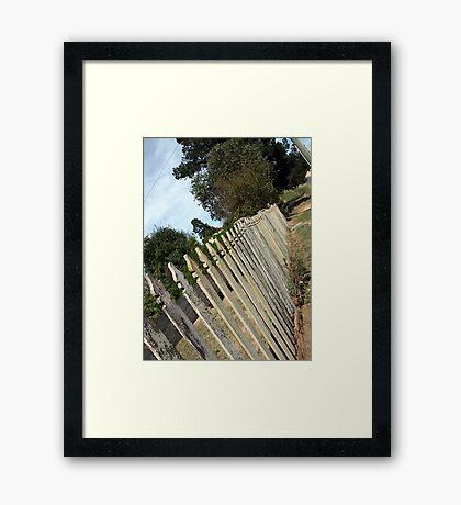 White Picket Fence- Hill End Framed Print
