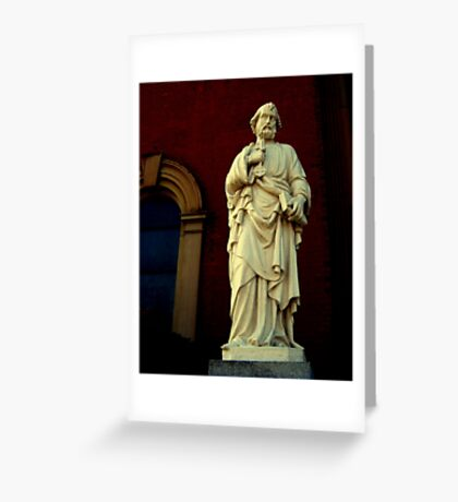 Church Statue Greeting Card