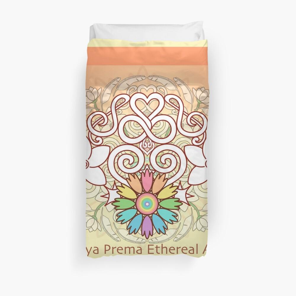 Orange Enlighten Love Mandala Duvet Cover