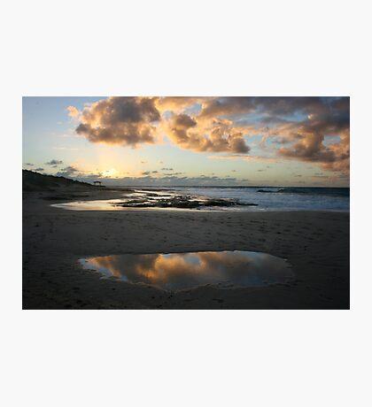 Cloud reflections - Jakes Point Kalbarri Photographic Print