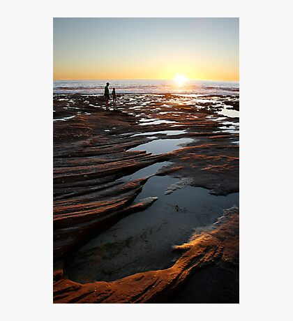 Rock pool sunset - Kalbarri Photographic Print