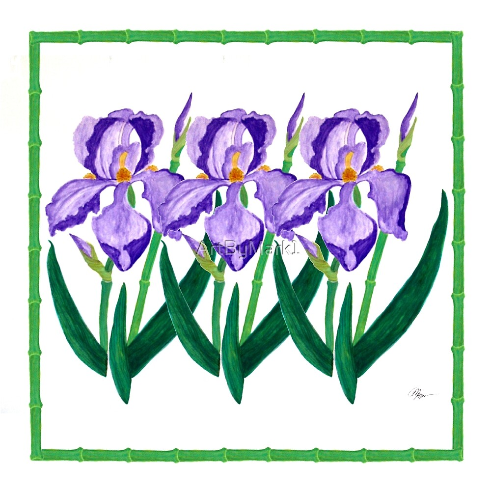 Purple Iris Garden by ArtByMark1