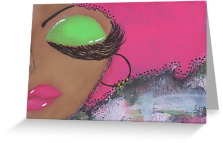 Sassy Girl Pink and Green  by Tiare Smith