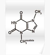 Theobromin-Molekül - Schokolade Poster