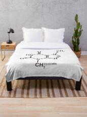 Theobromine Molecule - Chocolate Throw Blanket