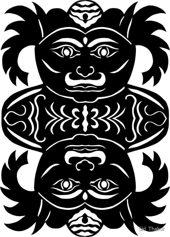 rakshasa duo - papercut pattern by Sid  Thakur