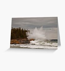 Nor' Easter Surf at Christmas Cove, Maine Greeting Card