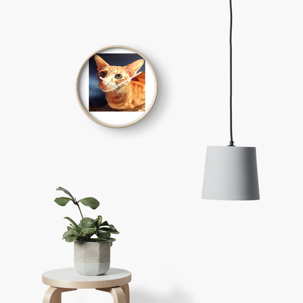 Oriental Cat Clock