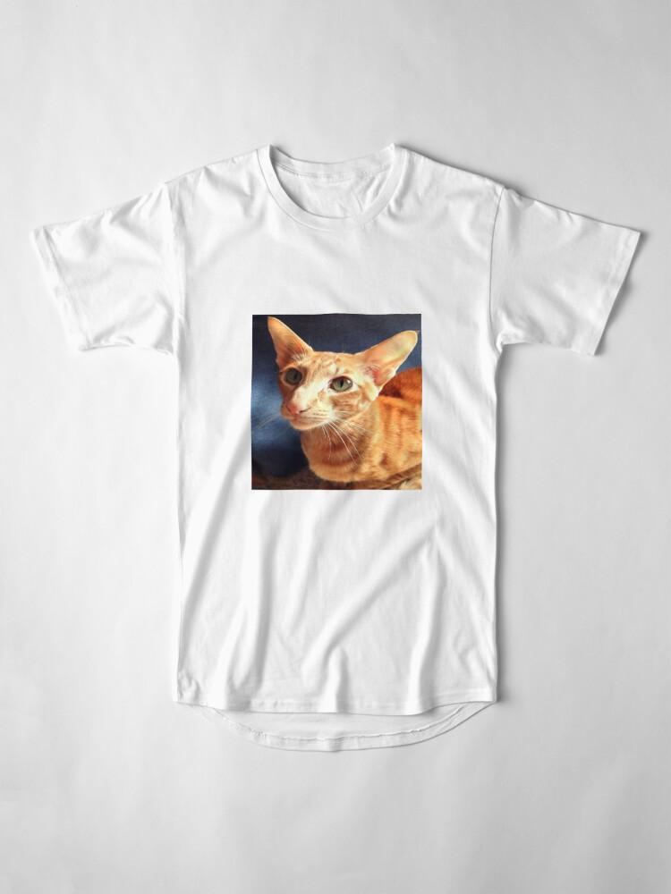 Alternate view of Oriental Cat Long T-Shirt