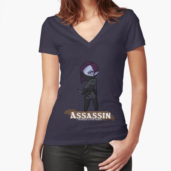 Assassin: Honour is for Nerds Fitted V-Neck T-Shirt