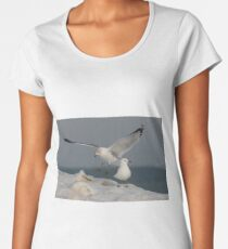 One Seagull Joins Another Women's Premium T-Shirt