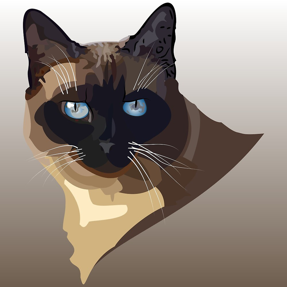 Siamese Cat Illustration by Fjfichman
