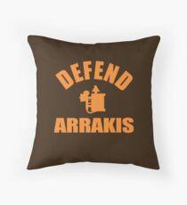 Defend Arrakis Throw Pillow