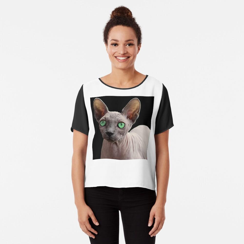 Sphynx Cat Chiffon Top