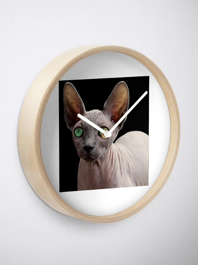 Alternate view of Sphynx Cat Clock