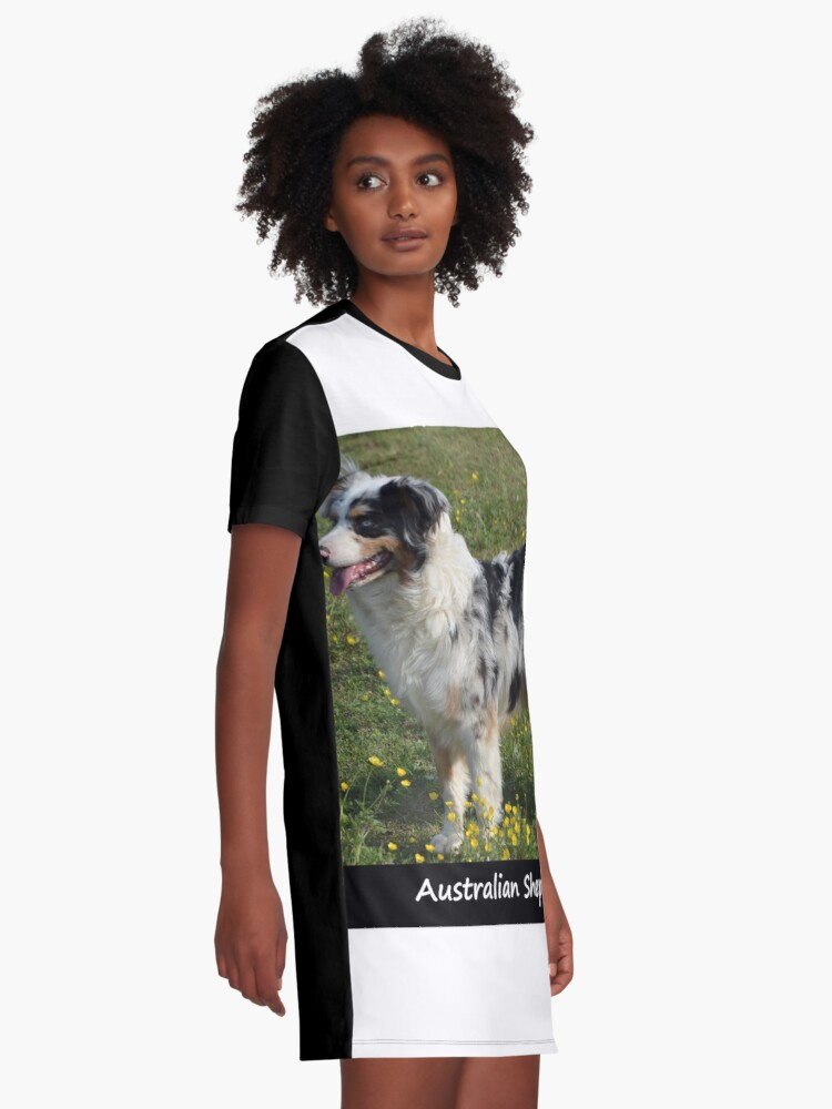Alternate view of Australian Sheperd Graphic T-Shirt Dress
