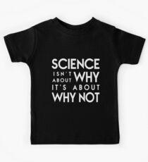Warum nicht - weißer Text Kinder T-Shirt