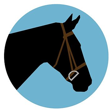 Minimalist Horse → Black/Blue  by e-q-u-i-t-a-t-e